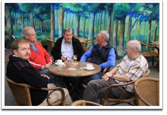 Kim Clabbers, Eckehard Dombrowe, Heinz Toubartz, Bernd Schäfers und Piet Thijssen
